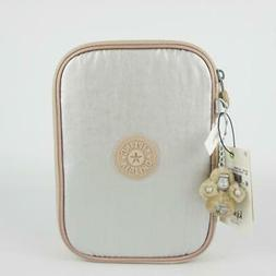 KIPLING 100 Pens Nylon Accessory Pencil Case Toasty Gold Met