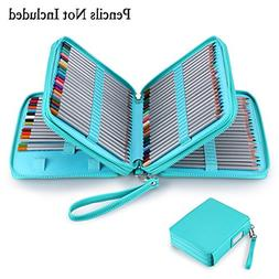 BTSKY 120 Slots Pencil Case - PU Leather Handy Large Zipper
