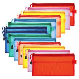 14pcs Pencil Pen Case Zipper Pouch Cosmetic Bag Storage Stat