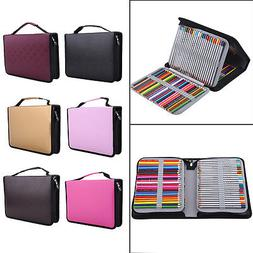 150 Slot Colored Pencil Case Organizer Foldable PU Leather P