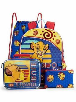 "Disney Lion King 16"" Backpack, lunch tote, pencil case, cinc"
