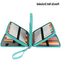 Soucolor 168 Slots Pencil Case PU Leather Handy Pencil Wrap