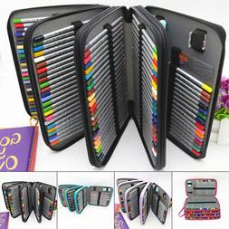 184 Slot Colored Pencil Case Organizer Foldable PU Leather P
