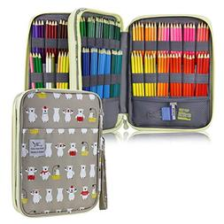 YOUSHARES 192 Slots Colored Pencil Case, Large Capacity Penc