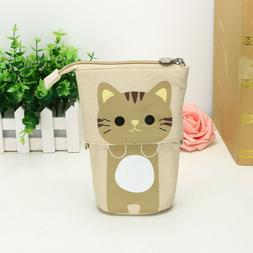 1PC Store Pencil Case Box Cartoon Cute Cat Telescopic Pencil