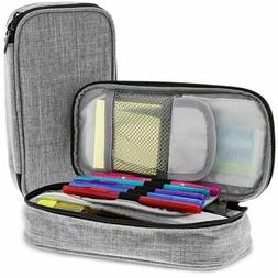 Paper Junkie 2-Pack Large Pen and Pencil Soft Travel Organiz