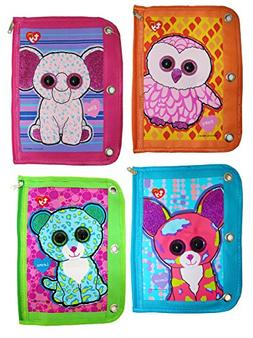 Ty Beanie Boos 3 Ring Binder Pencil Pouch, 10 x 7.5 Inches,