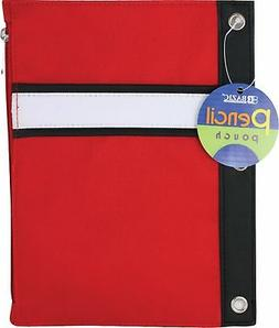 3 ring pencil pouch assorted colors case