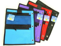3 Ring Pencil Pouch with 2 Mesh Zipper Pockets - Pencil Case