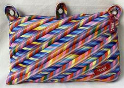 "Zipit 3 Ring Zippered Binder Pouch 9"" Rainbow Art Supplies P"