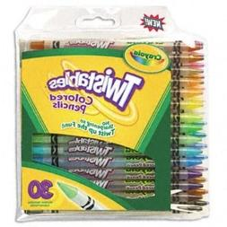 Crayola 30 Count Twistable Colored Pencils Case of 24 Packs