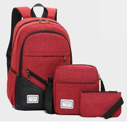 3pcs/set Boys Girl School Bags Backpack for Teenagers Pencil