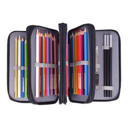 72 Pencil Case 4 Layers Bag Organizer Storage Enlarge Capaci