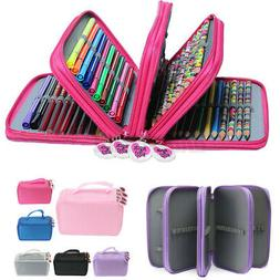 4 Layers 75 Pen Pencil Case Bag Pouch Organizer Storage Hold