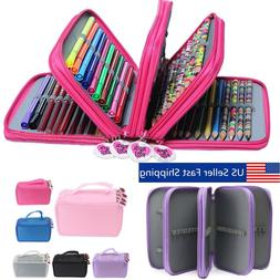 4 Layers 75 Pencil Case Bag Organizer Storage Large Capacity