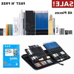 48 piece sketch and drawing pencil set