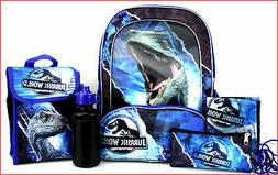 "5 pcs - JURASSIC WORLD Fallen Kingdom T-REX 16"" BACKPACK +LU"