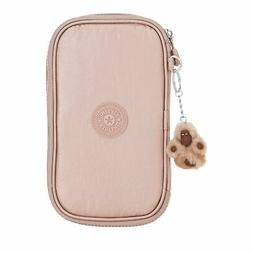 Kipling 50 Pens Metallic Pencil Case One Size Rose Gold Meta