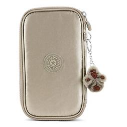 Kipling 50 Pens Metallic Pencil Case One Size Metallic Pewte