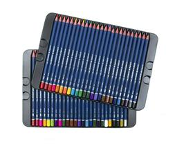 50 Colored Pencils Platinum Soft Core Artist Paint Tin Case