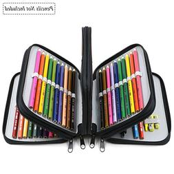 YOUSHARES 72 Holders Handy Multi-layer Zipper Pencil Case wi