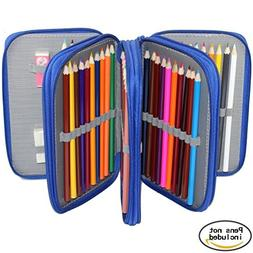 Pencil Case,Newcomdigi 72 Slots Multi-layer Pen Bag Large Ca