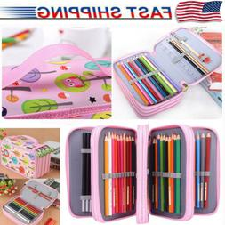 72 Slot Pencil Case 4 Layer Art Artist Pen Holder Bag Organi