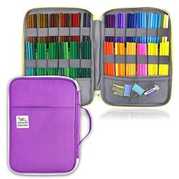YOUSHARES 96 Slots Colored Pencil Case, Large Capacity Penci