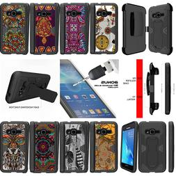 For Samsung Galaxy Express 3 J120 Clip Case Tribal Drawings