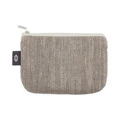 Gray 100% Linen Pencil Case - 5x7 inch Pouch Bag, by ThingSt