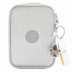 Kipling 100 PENS Pencil Case - AC6117 Color Silver Beige