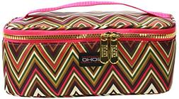 LONDON SOHO NEW YORK Zig Zag Collection Cosmetic Train Case