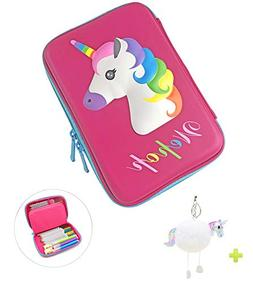 Pencil Case Unicorn EVA Pen Pouch Stationery Box Anti Shock