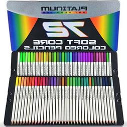 Tin Case 72 Prismacolor Premier Colored Pencils Platinum Sof
