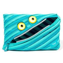 ZIPIT Wildlings Big Pencil Case/Cosmetic Makeup Bag, Blue FR