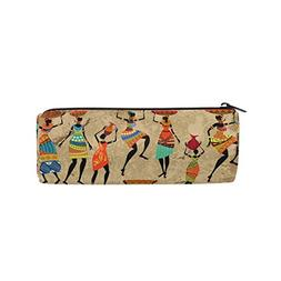 ALAZA African Woman On Grunge Pencil Pen Case Pouch Bag with
