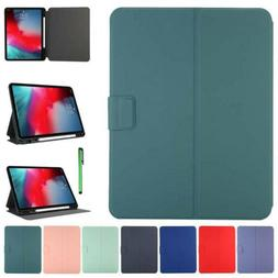 For Apple iPad Smart Wake Leather Stand Case Cover TPU Back