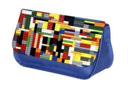 Assorted Blue School Pencil Cases with 2 Pockets - Choose Yo