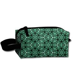 Travel Cosmetic Bag Psychedelic Forest Green Bohemian Nomadi