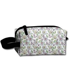 Travel Cosmetic Bag Watercolor Floral Flowers Lily Rose Mult