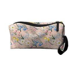 Travel Cosmetic Bag Watercolor Floral Flowers Summer Tulip F