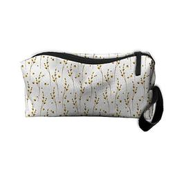 Travel Makeup Bag Yellow Wildflowers Dry Flower Floral Flowe