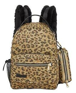 Steve Madden Becky Backpack With Pencil Case LeopardGold