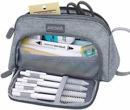 Aiscool Big Capacity Pencil Case Bag Pen Pouch Holder Large