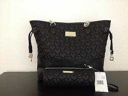 Betsey Johnson Black Heart Quilted Tote $108 & Quilted Penci