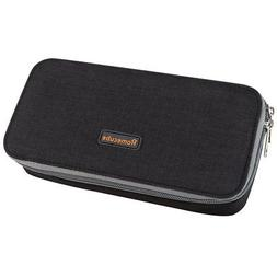 Homecube Black Large Rectangle Pencil Case Elastic Mesh Fabr