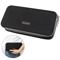 Homecube Black Pencil Case Big Capacity Pen Box Desk Organiz