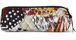 Vera Bradley Brush & Pencil Makeup Case in Painted Feathers