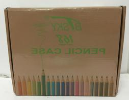 BTSKY 168 Slots Colored Pencil Organizer - Deluxe PU Leather