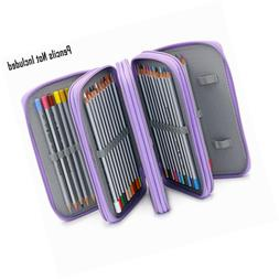 BTSKY Handy Wareable Oxford Colored Pencil Case 72 Slots Org